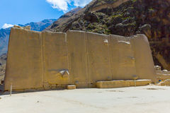 Ollantaytambo, Peru, Inca ruins  and archaeological site in Urubamba, South America. Royalty Free Stock Photography