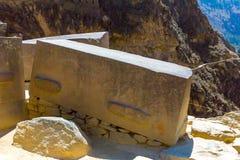 Ollantaytambo, Peru, Inca ruins  and archaeological site in Urubamba, South America. Royalty Free Stock Photo