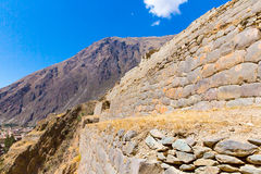 Ollantaytambo, Peru, Inca ruins  and archaeological site in Urubamba, South America. Stock Photos