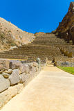 Ollantaytambo, Peru, Inca ruins  and archaeological site in Urubamba, South America. Stock Images