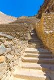 Ollantaytambo, Peru, Inca ruins  and archaeological site in Urubamba, South America Stock Images