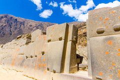 Ollantaytambo, Peru, Inca ruins  and archaeological site in Urubamba, South America. It was royal estate of Emperor who conquered during Inca Empire Royalty Free Stock Images