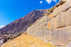 Ollantaytambo, Peru, Inca ruins  and archaeological site in Urubamba, South America. Stock Image