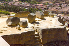 Ollantaytambo, Peru, Inca ruins  and archaeological site in Urubamba, South America.  It was royal estate of Emperor Stock Image