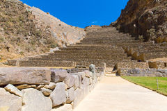 Ollantaytambo, Peru, Inca ruins  and archaeological site in Urubamba, South America. Stock Photo