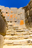 Ollantaytambo, Peru, Inca ruins  and archaeological site in Urubamba, South America. Royalty Free Stock Images