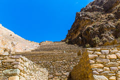 Ollantaytambo, Peru, Inca ruins  and archaeological site in Urubamba, South America. Royalty Free Stock Photos