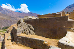 Ollantaytambo, Peru, Inca ruins  and archaeological site in Urubamba, South America. Stock Photography