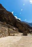 Ollantaytambo, Peru, Inca ruins  and archaeological in Urubamba, South America. Stock Image