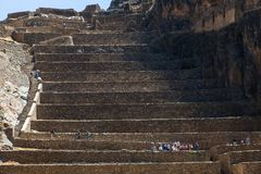 Archaeological complex of Ollantaytambo stock photography
