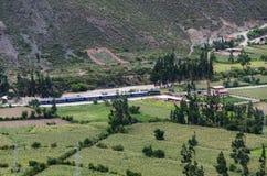Ollantaytambo, Peru Ruínas de Inca Fortress no Temple Hill foto de stock royalty free