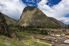 Ollantaytambo in Peru. Ollantaytambo ruins, in the Sacred Valley, Peru Royalty Free Stock Image
