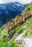 Ollantaytambo, Peru, Sacred Valley, ruins Royalty Free Stock Images