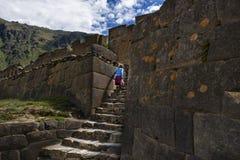Ollantaytambo ruine, dans la vallée sacrée, le Pérou Photos stock
