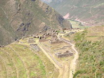 Ollantaytambo ruined town Royalty Free Stock Photography