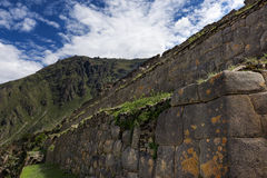 Ollantaytambo ruins, in Peru. Ollantaytambo ruins, in the Sacred Valley, Peru Royalty Free Stock Photography