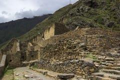 Ollantaytambo ruins in Peru Stock Photo