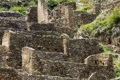 Ollantaytambo ruins in Peru Royalty Free Stock Photo
