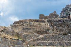 Ollantaytambo ruins peruvian Andes  Cuzco Peru Stock Photos