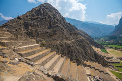 Ollantaytambo ruins in the sacred valley, Peru Royalty Free Stock Photography