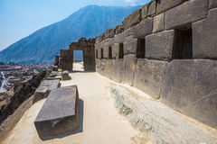 Ollantaytambo ruins in the sacred valley, Peru Stock Photography