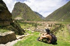 Ollantaytambo, ruínas Incan, Peru Fotografia de Stock