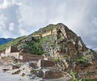 Ollantaytambo - stary inka forteca w Świętej dolinie w Andes Zdjęcia Royalty Free