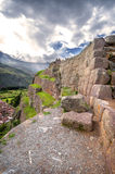 Ollantaytambo, stary inka forteca w Świętej dolinie w I zdjęcie royalty free