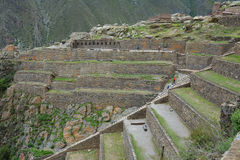 Ollantaytambo, vecchia fortezza nella valle sacra, Perù di inca Fotografie Stock