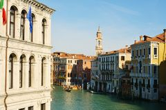 Olld buildings in Venice, Italy, Europe. Grand Canal Royalty Free Stock Images