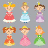 Ollection Ð ¡ των όμορφων πριγκηπισσών Στοκ εικόνα με δικαίωμα ελεύθερης χρήσης
