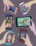 Ollection Ð ¡ των smartphones και των ταμπλετών Στοκ Φωτογραφίες
