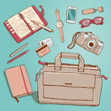 Сollection of business items Royalty Free Stock Image