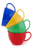 Collection of childrens toys cups (Clipping path) Stock Image