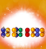 �ollection of christmas spheres Stock Photo