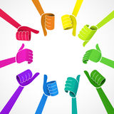 Сollection of color hands Stock Photography