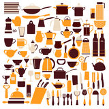 Ollection of cooking equipment cooking Stock Image