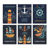 Ollection de ¡ de Ð des cartes marines illustration de vecteur