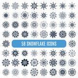 Ollection del ¡ di Ð dei fiocchi di neve alla moda del elegante isolati Immagine Stock Libera da Diritti