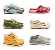 Ollection del ¡ di Ð delle scarpe casuali comode Immagini Stock Libere da Diritti