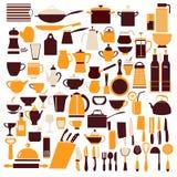 Ollection des Kochens des Ausrüstungskochens Stockbild