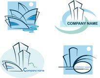 ?ollection des logos d'immeubles Photographie stock libre de droits