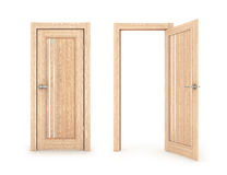 Сollection of doors, closed and open door,. Isolated on a white background Stock Photo