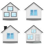 Сollection of houses Stock Photos