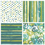Сollection of rustic handcrafted patterns Royalty Free Stock Photo