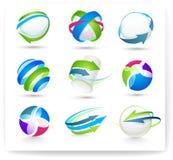 ?ollection van kleurenelementen Stock Foto