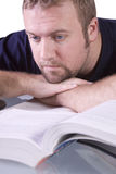 Ollege Student with Books Daydreaming Stock Image
