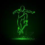 Ollie парнем скейтбордиста Стоковая Фотография