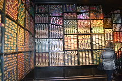 OLLIVANDERS WAND SHOP  WARNER HARRY POTTER TOUR Leavesden London Royalty Free Stock Photo