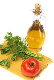Ollive oil spaghetti  parsley Royalty Free Stock Image